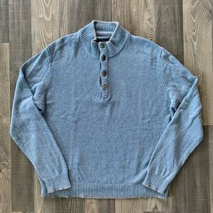 Other - Cashmere Wool Button Mock-Neck Henley Sweater